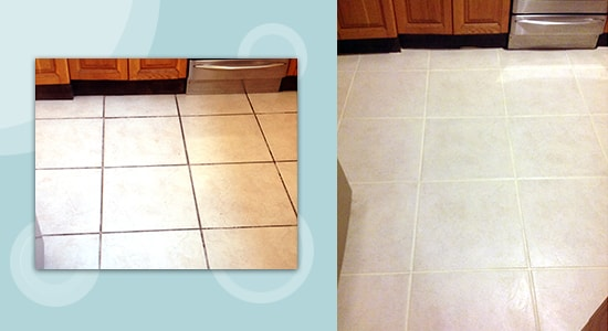 before after tile cleaning